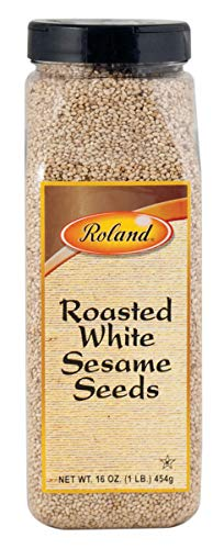 Roland Sesame Seeds, Roasted White, 16oz - Pack of 6 by Roland