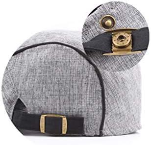 Dosige Collana Primavera E Estate Cotone A Righe E Lino Coppola Moda Poi Cappello Cappello all Aria Aperta Femminile Sole a 21cmx11cm