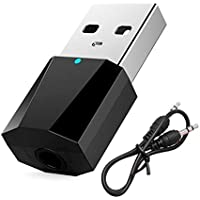 FairOnly Transmisor Proyector de Audio Estéreo USB Bluetooth 4.2 para TV, Pc, Altavoz Bluetooth, Negro