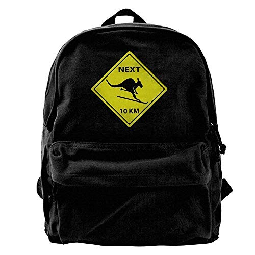 Backpacks Roadsign Kangaroo Ski Outdoor Backpack School Bags Travel Backpack Canvas Christmas Backpack ()
