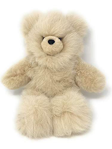 - Baby Alpaca Fur Teddy Bear - Hand Made 18 Inch Champagne