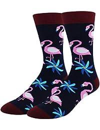 29916bb1185 Men s Novelty Funny Flamingo Sloth Cat Crew Socks