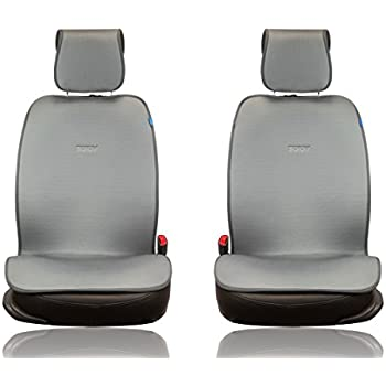 Sojoy Universal Four Season Fashionable Car Seat Cushion Cover for Front of 2 Seats 2.0 New Version (Gray)