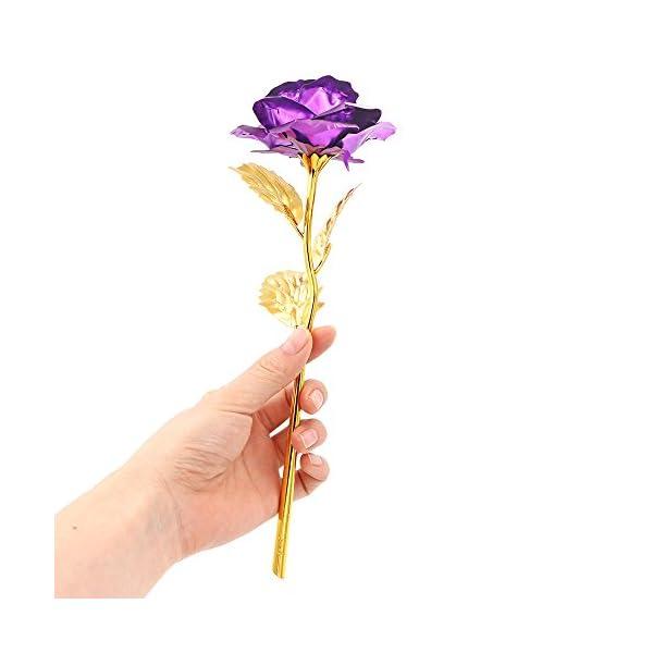 ALLOMN Rosa 24 K Chapado en Oro Rosa Flor con Caja de Regalo Mejor Regalo para el día de San Valentín Día de la Madre… ALLOMN Rosa 24 K Chapado en Oro Rosa Flor con Caja de Regalo Mejor Regalo para el día de San Valentín Día de la Madre… ALLOMN Rosa 24 K Chapado en Oro Rosa Flor con Caja de Regalo Mejor Regalo para el día de San Valentín Día de la Madre…
