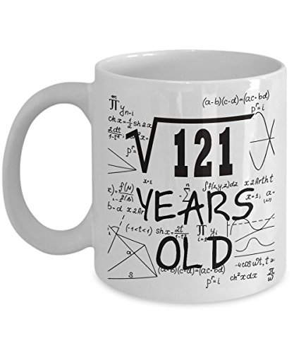 2007 Ceramic Mug - Math Formula Mug 11 OZ - Funny Math Gifts For Teachers, Students - Square Root Of 121-2007, 11 Year Old Girl Gifts - 11th Birthday Gifts Ideas For Girls, Her, Sister, Teen For Birthday Or Christmas