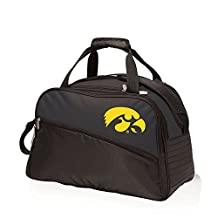 NCAA Iowa Hawkeyes Stratus Insulated Cooler Duffel Bag, Black