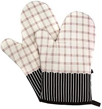 Adealink 2 Pcs Microwave Oven Mitts Thick Kitchen Baking Cook Oven Gloves Mitt Heat Insulation Pad Cooking Tools Potholder
