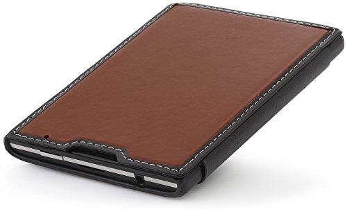 StilGut Book Type, Genuine Leather Case for BlackBerry Passport, Brown & Black Nappa by StilGut (Image #7)