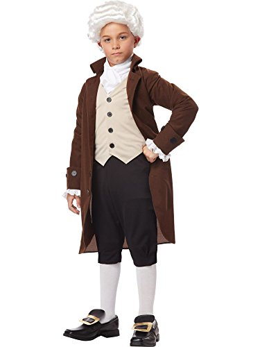 California Costumes Colonial Man/Benjamin Franklin Child Costume, Large (Colonial Day Costumes)
