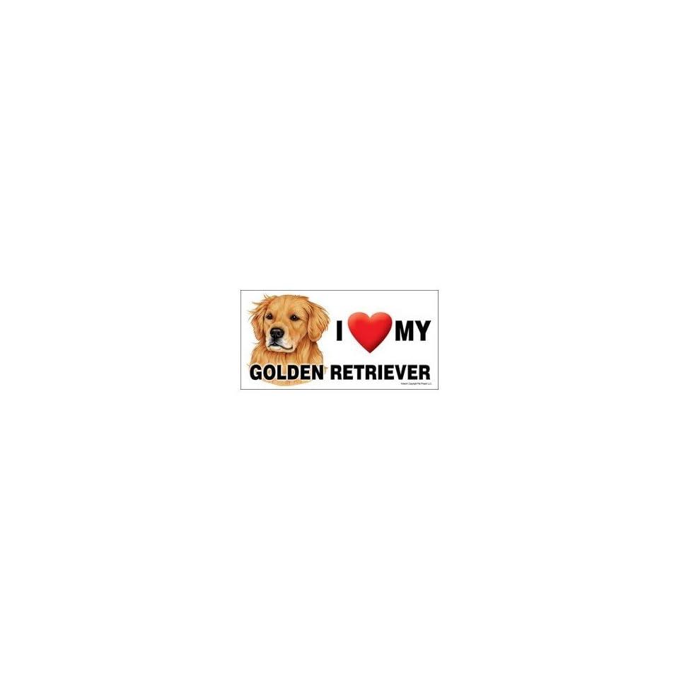 I Love my Golden Retriever Dog 8x4 Magnet
