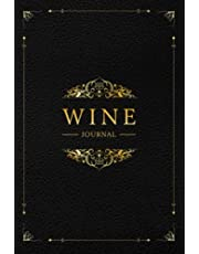 Wine Journal: Wine Tasting Notebook & Diary | Elegant Black Leather and Gold Design