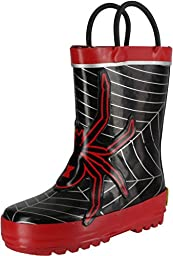 Western Chief Spider Web Rain Boot (Toddler/Little Kid/Big Kid),Red,8 M US Toddler