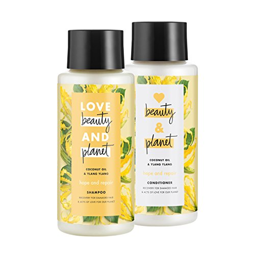 Love Beauty And Planet Hope and Repair Shampoo and Conditioner, Coconut Oil & Ylang Ylang, 13.5 oz, 2 ct