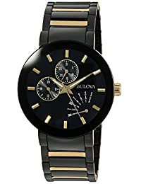 Bulova Mens 98C124 Dress Black Dial Watch
