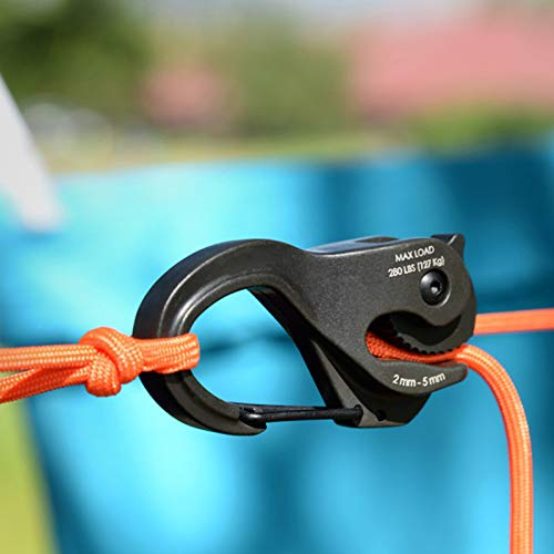 Drawoz Knot-Free Cord Tightener Hook Aluminum Binding Rope Hook Portable Fixed Tool Without Rope