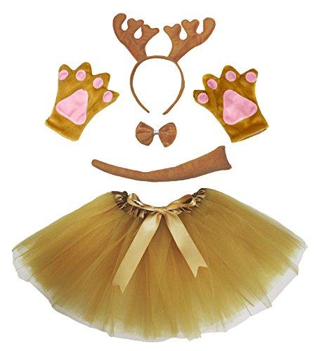 Petitebella Brown Reindeer Xmas Headband Bowtie