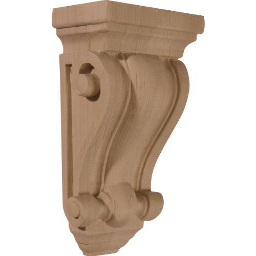 (Ekena Millwork CORW04X02X07COAL 4-Inch W x 2 1/2-Inch D x 7 1/2-Inch H Cole Pilaster Wood Corbel, Alder)