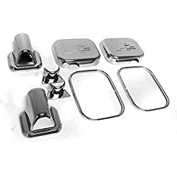 ZMAUTOPARTS Side Door Mirror Covers Trim Moulding Chrome 8Pcs Set For 2003-2005 Hummer H2