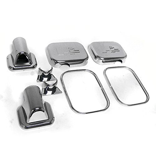 ZMAUTOPARTS Hummer H2 Suv Sut Side Door Mirror Covers Trim Moulding Chrome 8Pcs Set Chrome Side Door Mirror Cover