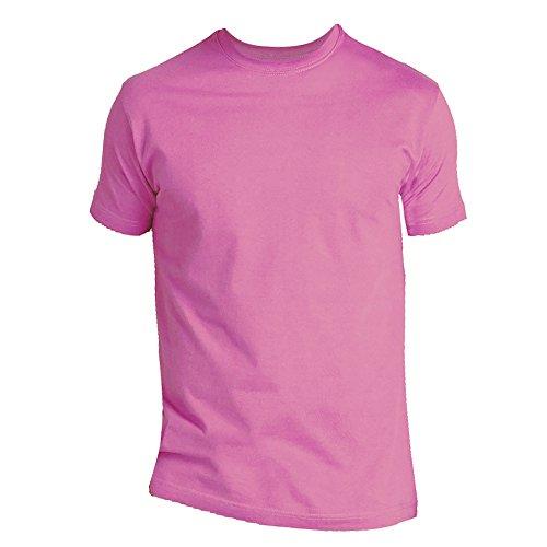 Sols Modelo Corta Manga Orquídea De 100 Camiseta Algodón Imperial Para Rosa Hombre Grueso 4xT4rOqw