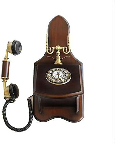 ZhuFengshop Máquina Colgante Pintada a Mano de Madera Maciza, teléfono montado en la Pared del jardín de Outlet de teléfono Escuela, Hogar, Oficina (Color : B): Amazon.es: Hogar