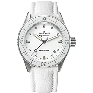 Best Epic Trends 41sqPY7tlYL._SS300_ Blancpain Fifty Fathoms Bathyscaphe Automatic 38mm White Ladies Watch 5100-1127-W52A