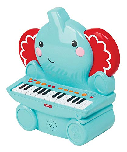 Elephant Price Fisher - Fisher-Price Elephant Piano with 25 Keys, 16 Demo Songs, 4 Animal Sounds and 4 Built in Rhythms