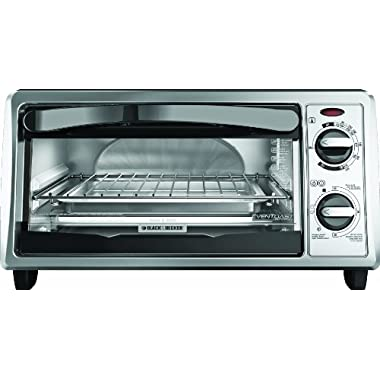 Black & Decker TO1332SBD 4-Slice Toaster Oven, Silver