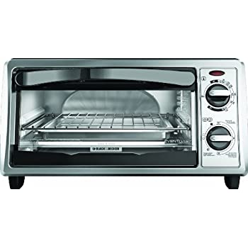 BLACK+DECKER TO1332SBD 4-Slice Toaster Oven, Stainless Steel