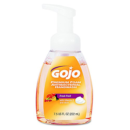 GOJO 571006CT Premium Foam Antibacterial Hand Wash, Fresh Fruit Scent, 7.5 oz Pump (Case of ()