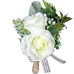 Lovgrace Wrist Corsage White Pink Boutonniere Wedding Bridesmaid Silk Flowers Marriage Wedding Accessories 48