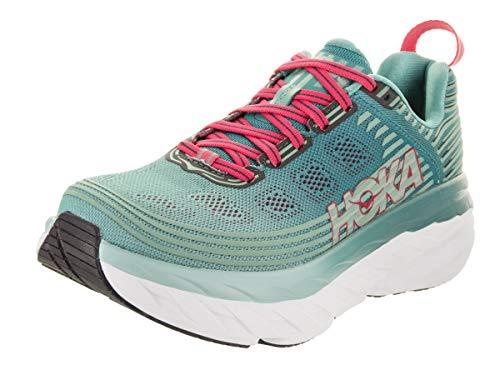 HOKA ONE ONE Women's Bondi 6 Running Shoe, Canton/Green/Blue Slate 7.5 US