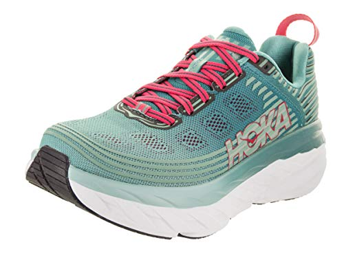 HOKA ONE ONE Women's Bondi 6 Canton/Green/Blue Slate Running Shoe 9.5 Women US