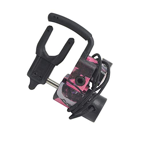 (MILAEM Archery Compound Bow Arrow Rest Drop Away Fall Away Arrow Rest CNC Aluminum Alloy Hunting Shooting Arrow Rest for Right Hand (Pink))