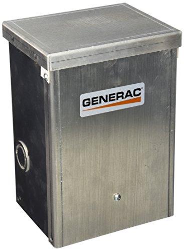 Generac 6377 30-Amp 125/250V 2-Pole Single Circuit Outdoor Manual Transfer Switch for Maximum 7,500 Watt Generators
