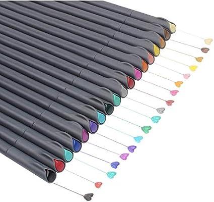 24 Fineliner Colour Pens Set Chukchi Fine Line Coloured