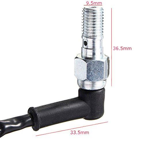 zreal Interrupteur de Lumi/ère arri/ère de pression de frein hydraulique de moto universelle avec rondelles BOULON DE Banjo 10/mm x 1.25/echada