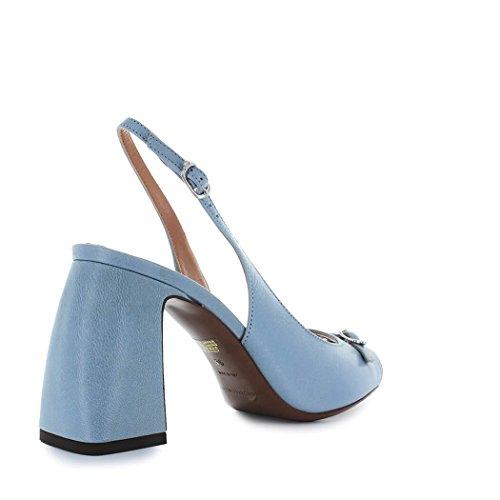 Lautre Ha Scelto La Scarpa Da Donna Sandalo In Pelle Blu Primavera-estate 2018