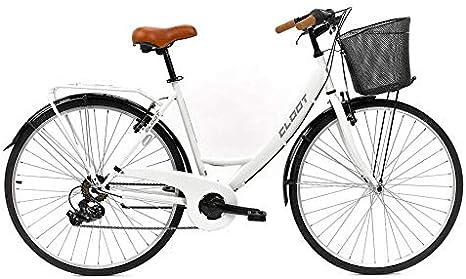 CLOOT Bicicleta Paseo Relax 700 Shimano 6V Blanca: Amazon.es ...
