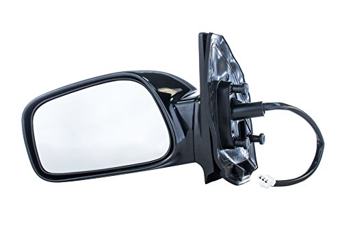 Driver Mirror for Toyota Corolla CE (2003 2004 2005 2006 2007 2008) Side Smooth Black Power Operated Non-Heated Non-Folding Left Outside Rear View Replacement Door Mirror