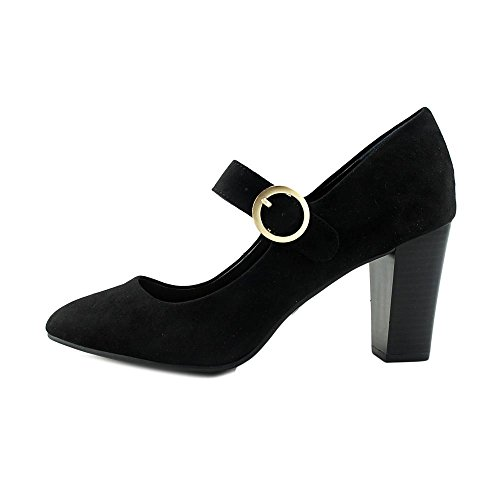 Style & Co Alabina Rund Faux Wildleder Mary Janes Black