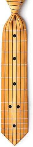 Guitar Fretboard Orange Microfiber Tie