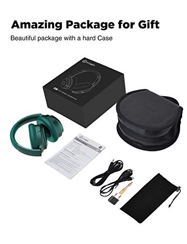 COWIN SE7 Active Noise Cancelling Headphones Bluetooth Headphones Wireless Headphones Over Ear With Mic/Aptx, Comfortable Protein Earpads 30H Playtime, Foldable Headphones For Travel/Work - Dark Green by cowin (Image #6)