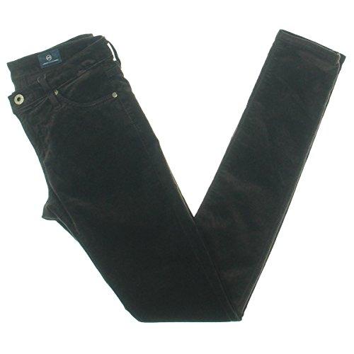 Jeans Velvet Pants (AG Adriano Goldschmied Women's Skinny Legging Velvet Pants, Bordeaux Brown, 26)