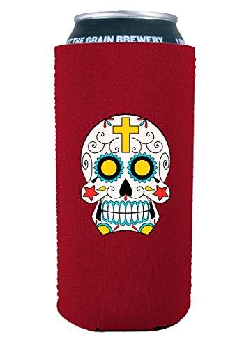 Coolie Junction Sugar Skull 16 oz. (Pint) Can Coolie (Red)