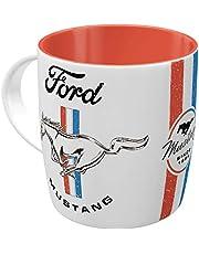 Nostalgic-Art 43065 Retro kubek do kawy Ford Mustang – Horse – pomysł na prezent dla fanów akcesoriów samochodowych, duży ceramiczny kubek z sentencją