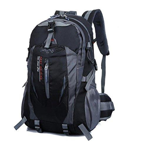 Noir Rucksack 40L Sac bagages à Camping air en plein randonnée Nylon kingko® Voyage étanche dos RAnq6vT6d