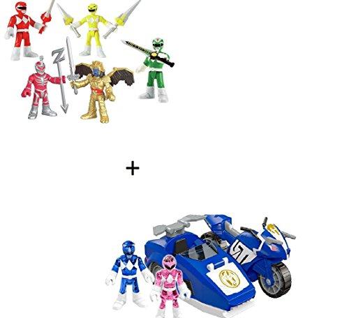 BUNDLE Imaginext Power Rangers Battle Pack + Imaginext Power Rangers Triceratops Battle Bike Gift Set