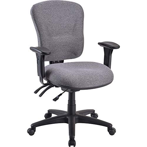 Lorell Mid-Back Task Chair, 26-3 4 by 26 by 39-1 4-42-Inch, Gray