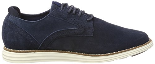 Pepe Jeans London Herren Derry Suede Oxfords Blau (Navy)